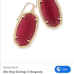 Kendra Scott burgundy earrings